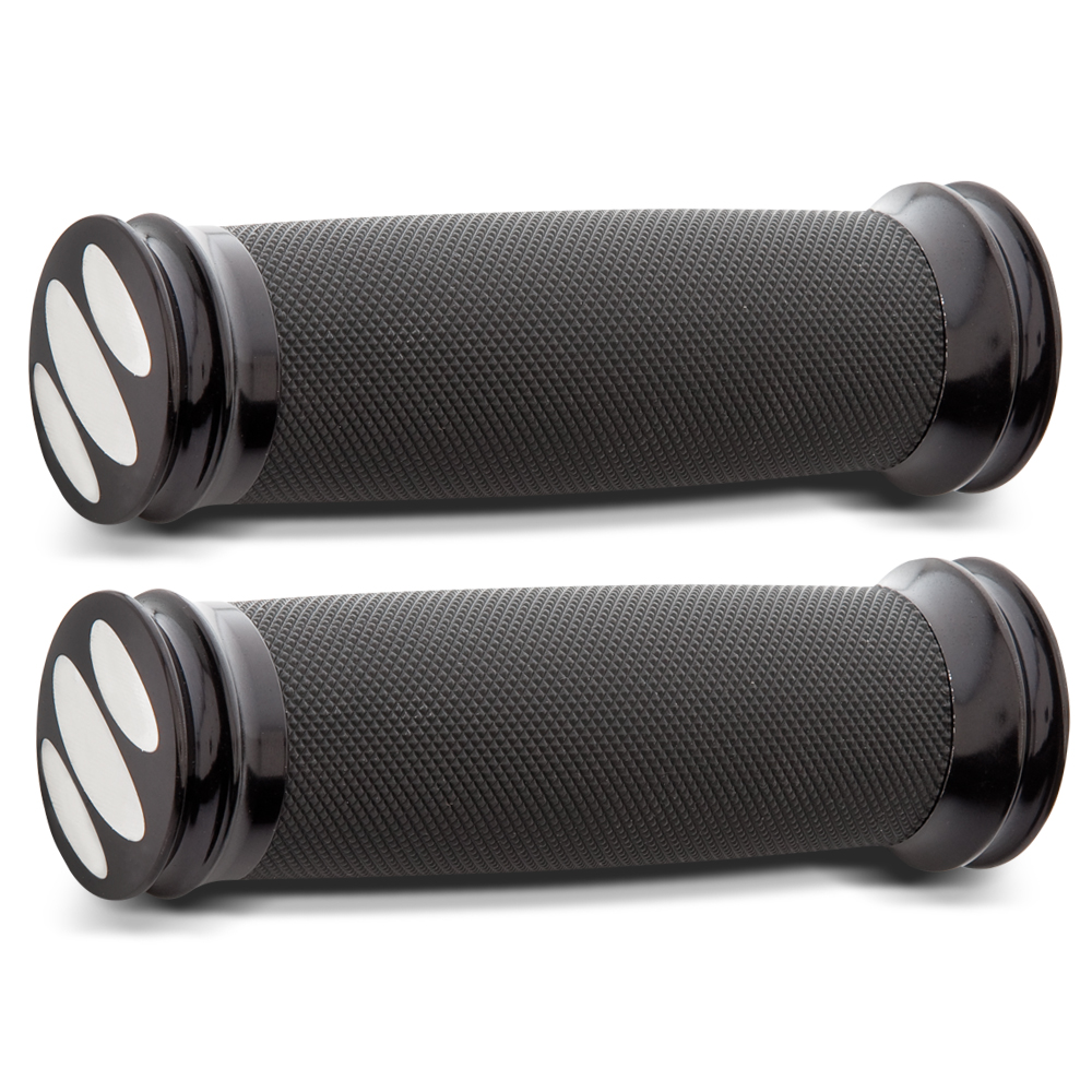 Scalloped Knurled Soft Touch Grips - Black