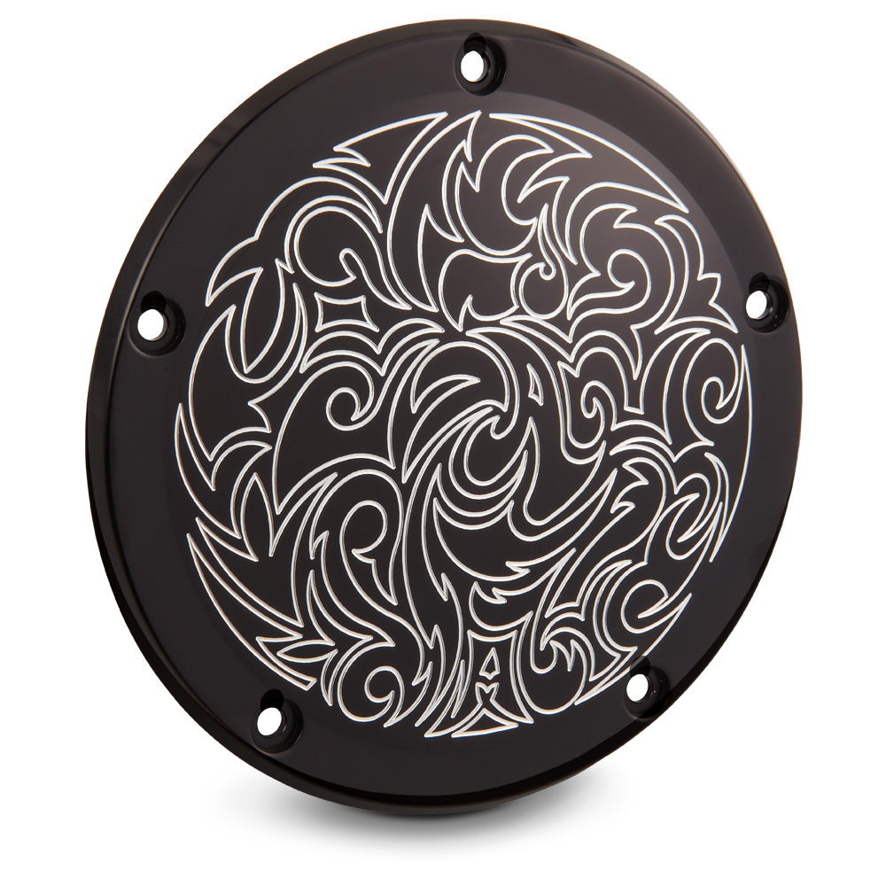 Engraved Derby Cover - Chrome &Black