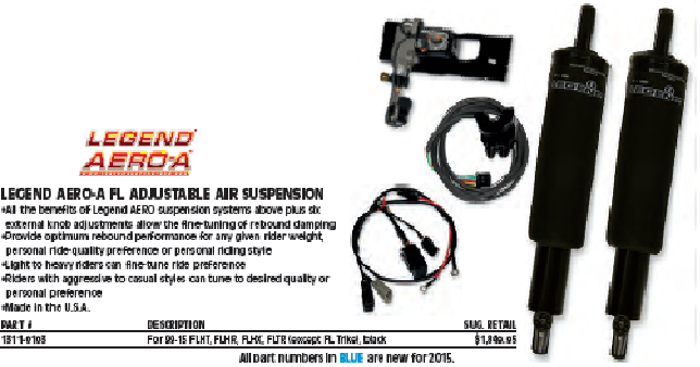 LEGEND AERO-A FL AJUSTBLE AIR SUSPENSION 99y〜 ツーリングモデル BLACK