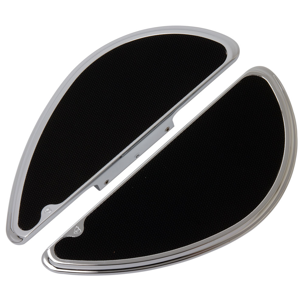 Smoothie Fusion Passenger Floorboards -  Chrome&Black