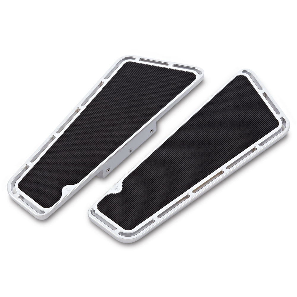 Slot Track Fusion Passenger Floorboards -  Chrome&Black