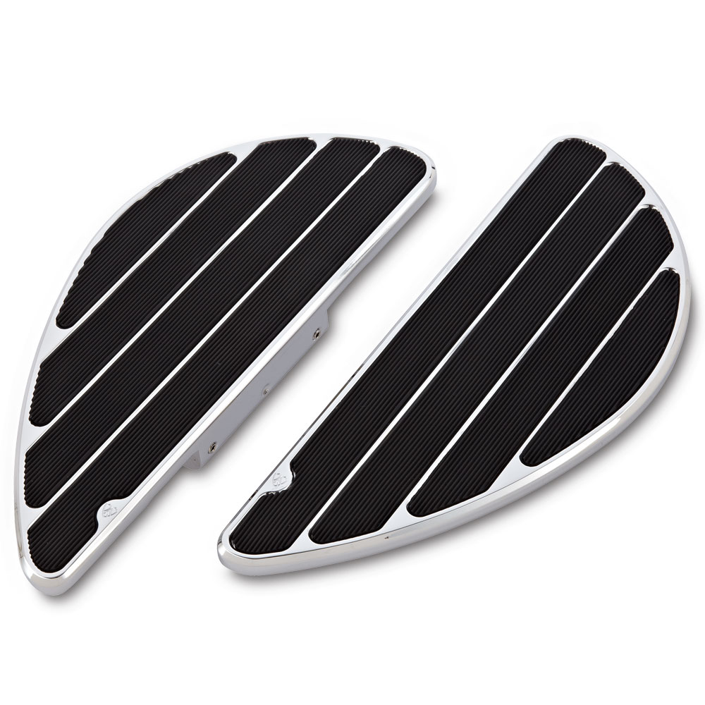 Ring Leader Fusion Passenger Floorboards-  Chrome&Black