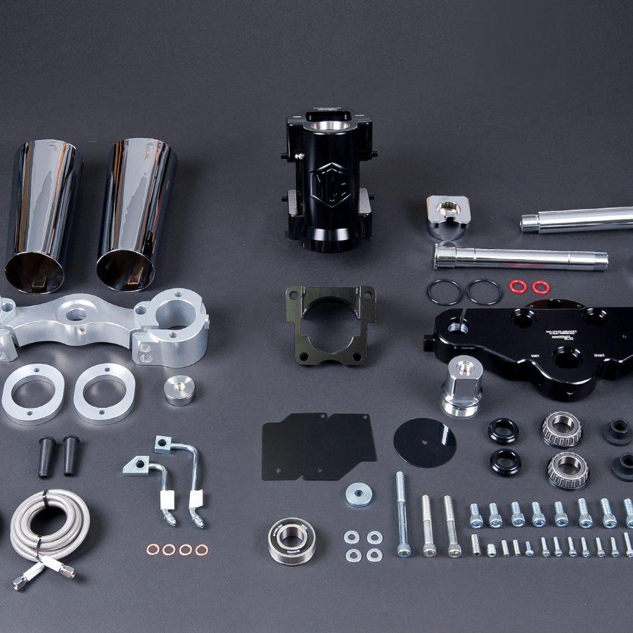 MCBaggers Steel Koreレーキキット 2014y〜 30インチホイール42° ブラックorシルバー仕上げ