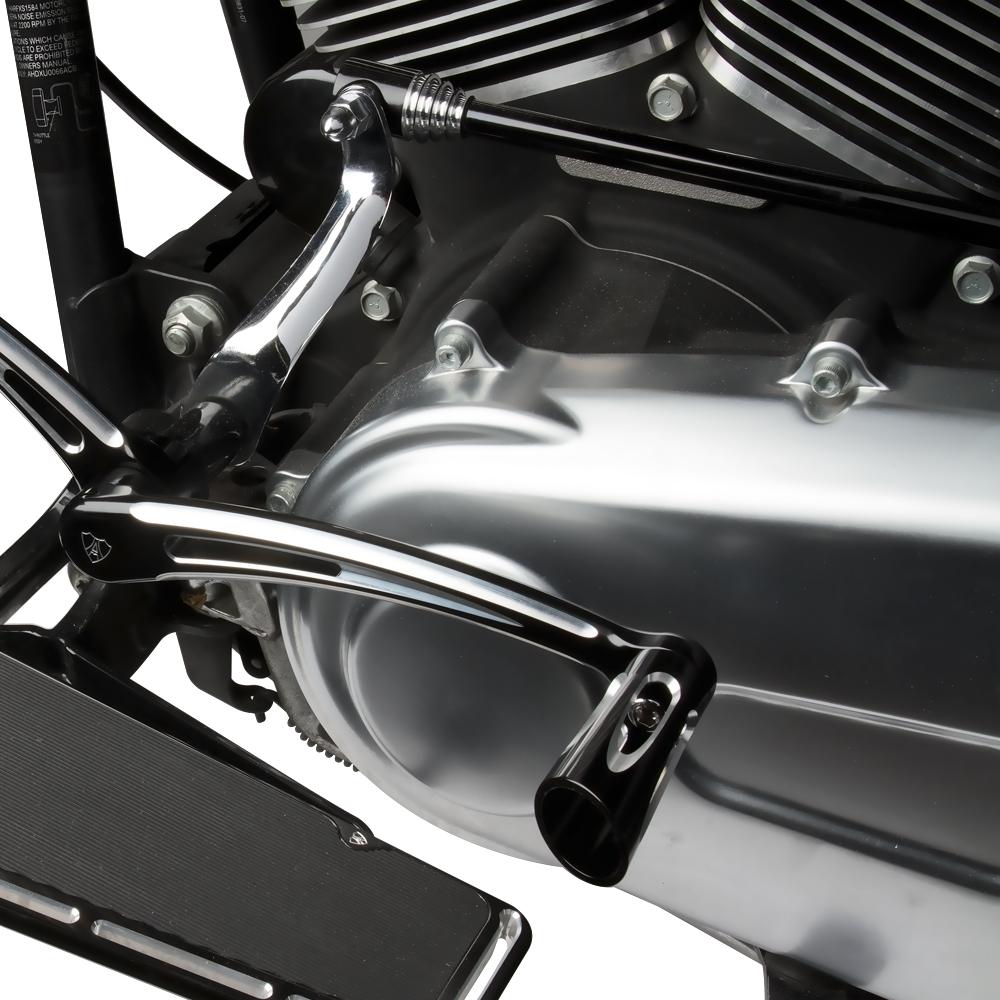 Retro Round Shifter Rod - Black &Chome