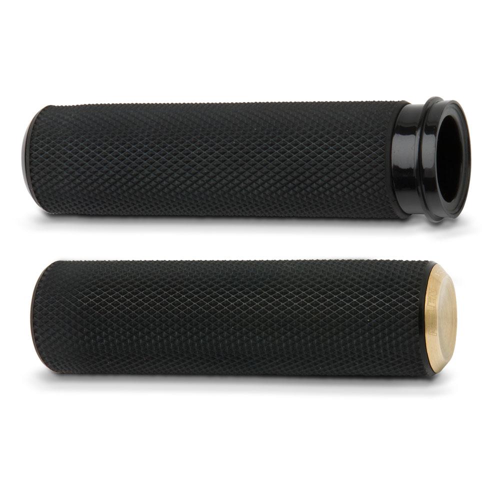 Knurled Fusion Grips-  Chrome&Black&Blass