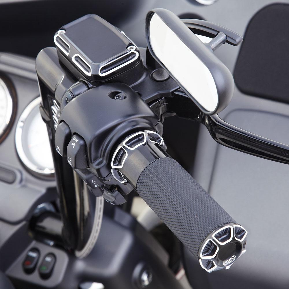 Beveled Fusion Grips -  Chrome&Black