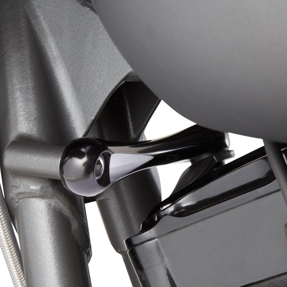 Hole Shot Billet Engine Stabilizer Link - Chrome &Black