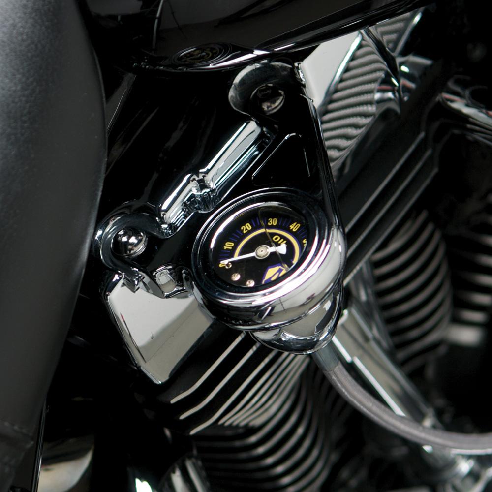 Radius Oil Pressure Gauge Kits - Chrome