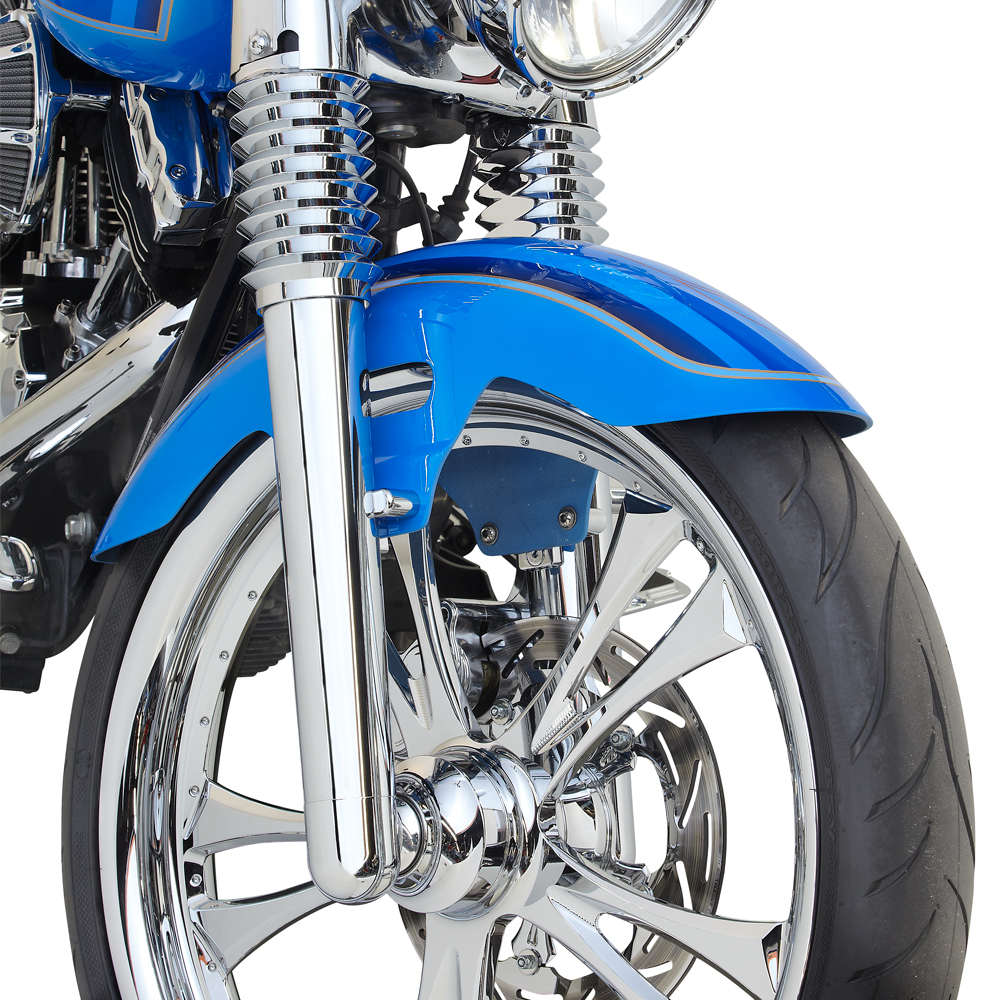 Retro Fork Boot Covers - Chrome