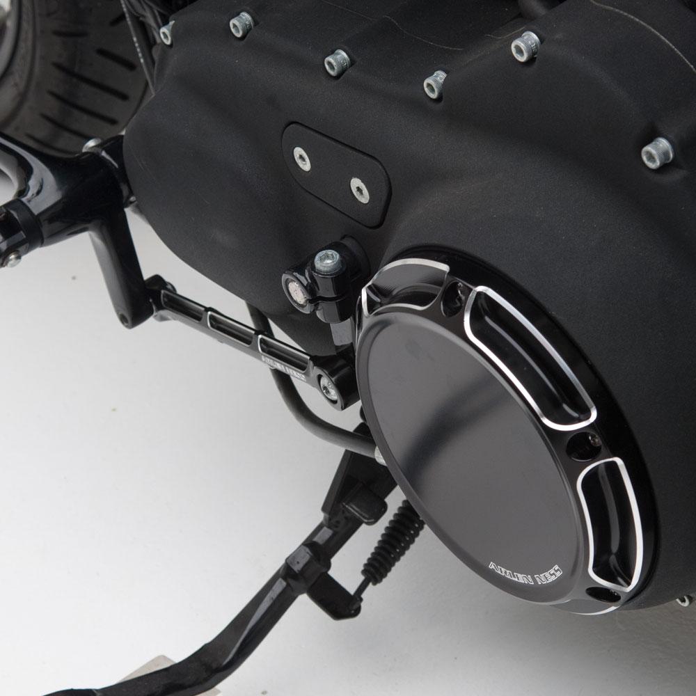 Beveled Derby Cover - Chrome &Black  (Sportster)