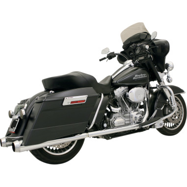 Bassani CHROME/POLISHED +P BAGGER STEPPED TRUE-DUALS WITH POWER CURVE