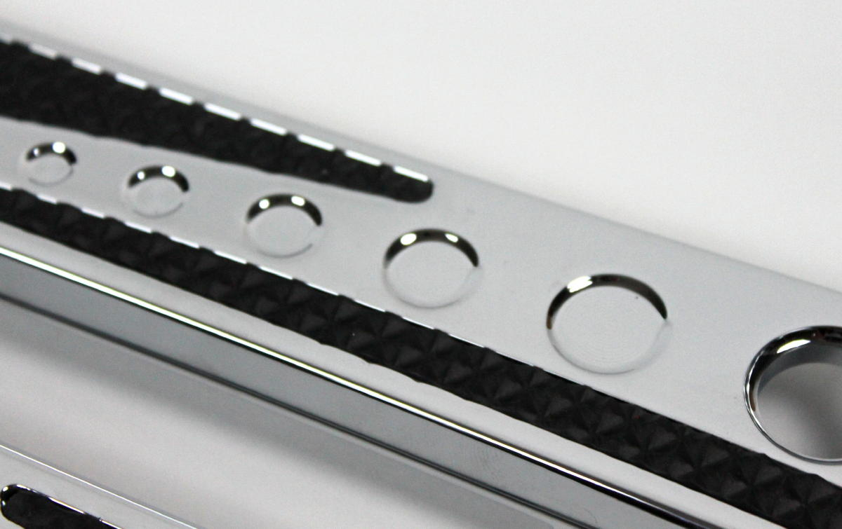 JH Chrome-EOスタイルサドルバッグ ラッチカバー(2014y〜)     ゴム入りクローム