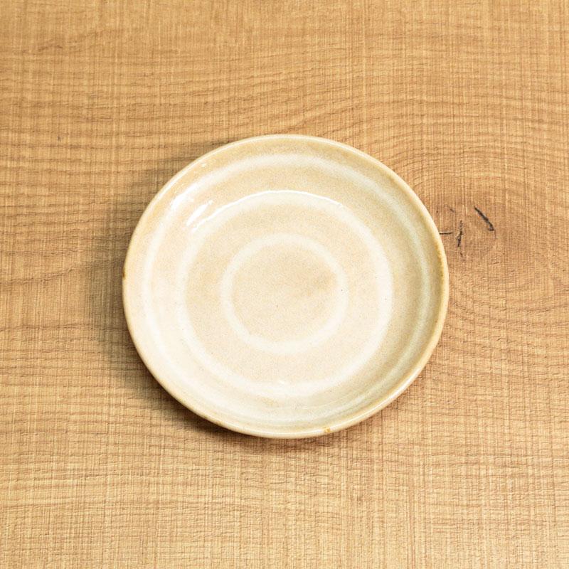 グルグルおやつ皿/ベージュ