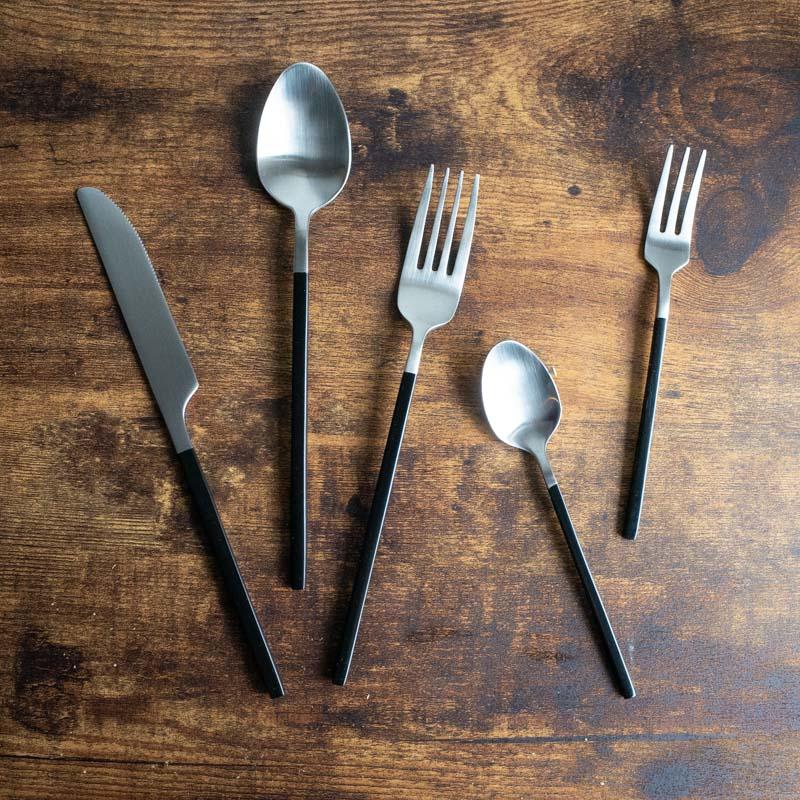 Edge line/Cutlery set/BK(ブラック)