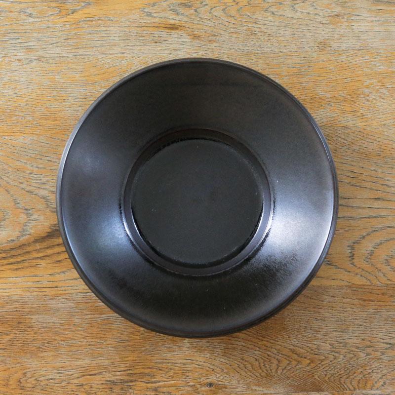 SPADA/21cm浅ボウル/ラバブラウン(黒茶)