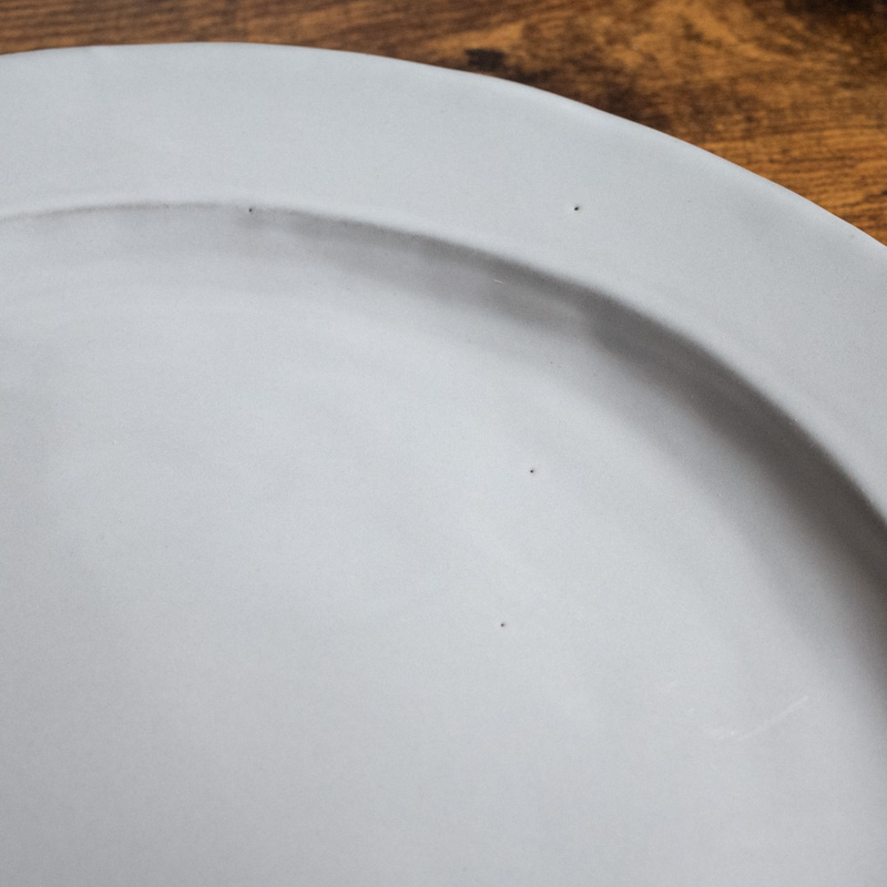 Calin/OVAL PLATE26(ライトグレー)