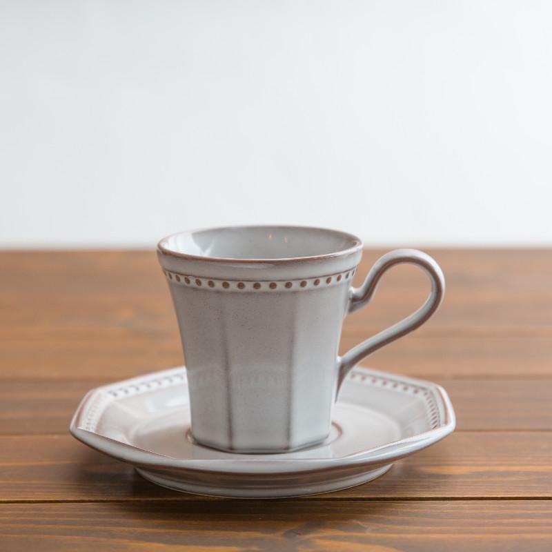 Coline/コーヒカップ&ソーサー/ネージュ(白)