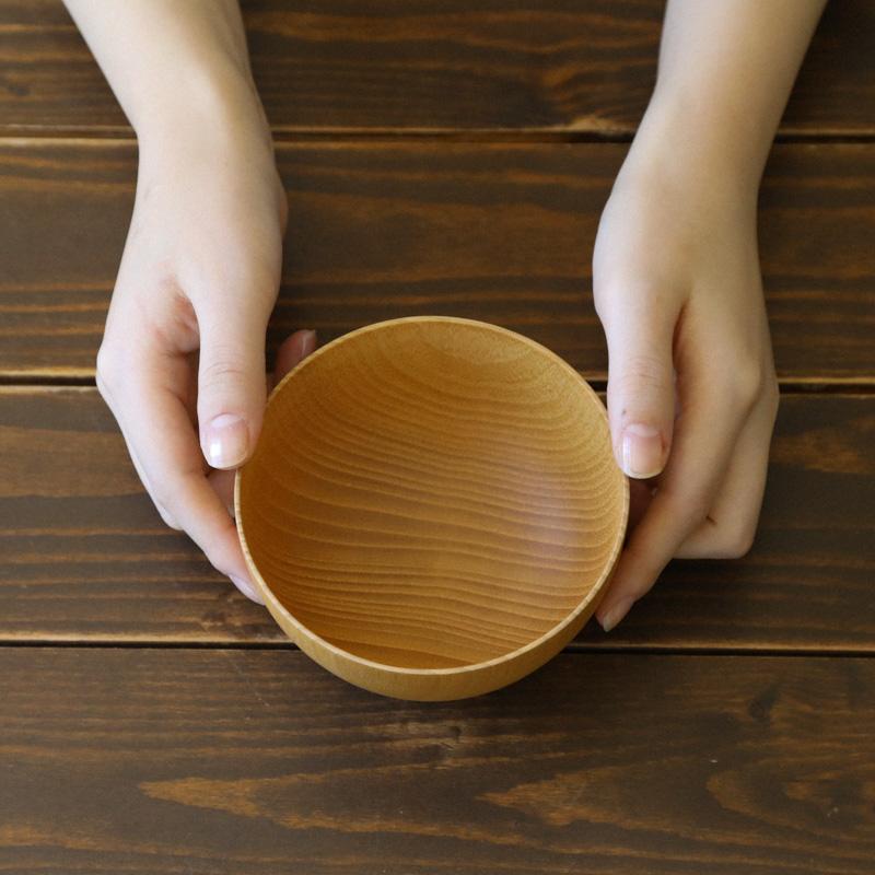 木製くびれ汁椀/ナチュラル