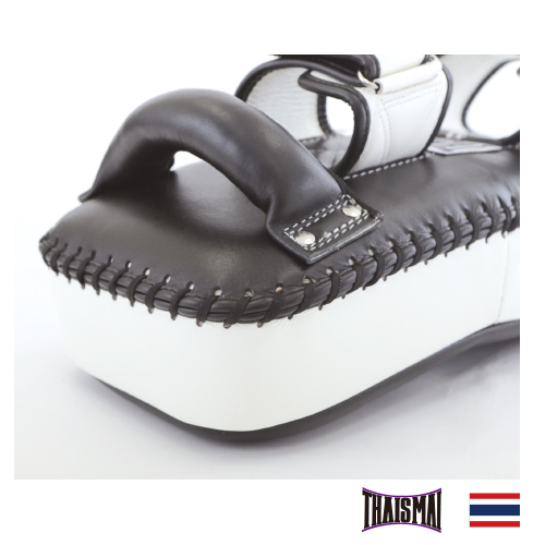 タイサマイ 湾曲型キックミット 黒/白