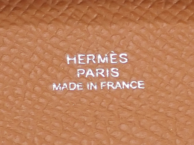 【辛口評価】【Sランク】HERMES エルメス バスティア コインケース 041054CK37 ヴォーエプソン ゴールド Y刻印