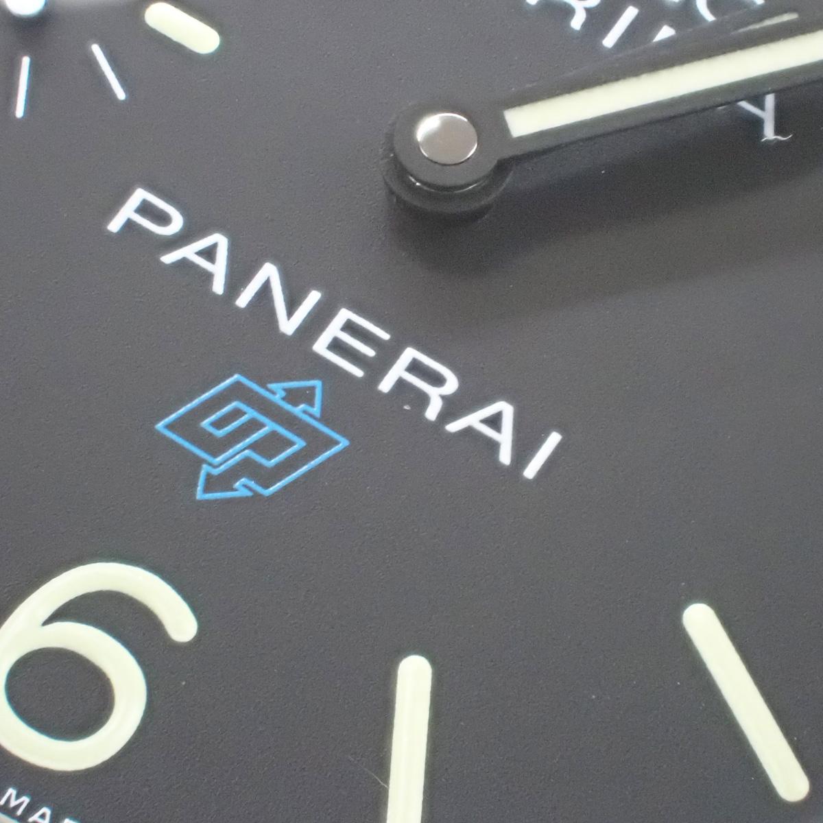 【辛口評価】【Aランク】PANERAI パネライ ルミノール マリーナ ロゴ 3デイズ アッチャイオ PAM00777 ブルーベルト ブラック文字盤