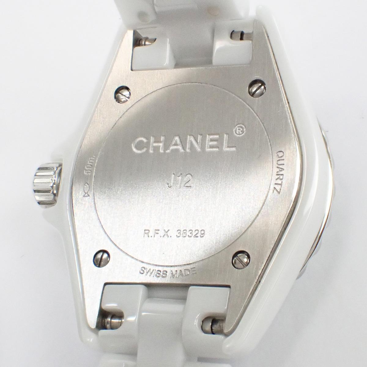【辛口評価】【Aランク】CHANEL シャネル J12 29mm H2570 8Pダイヤ ホワイトシェル 国内正規品