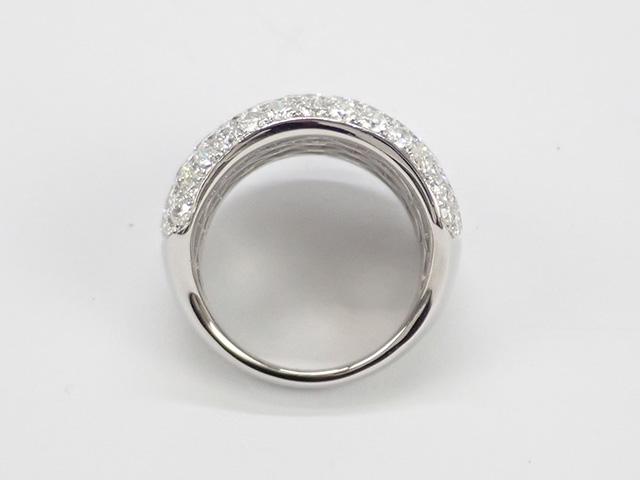 【辛口評価】【Aランク】Pt900 デザインリング ダイヤ5.00ct ゲージ棒約11.5号