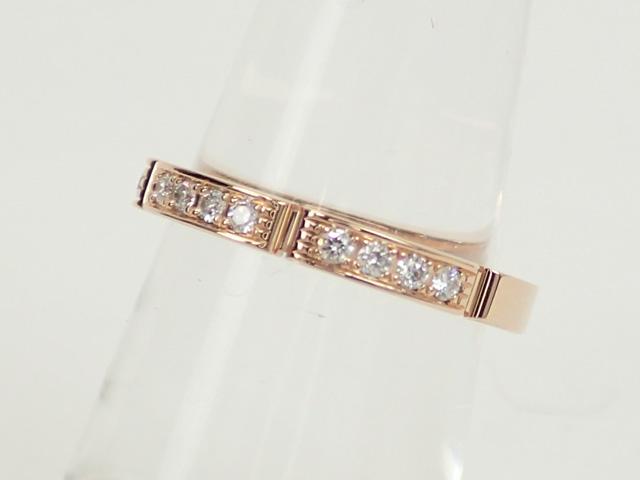 【辛口評価】【Aランク】Cartier カルティエ K18PG マイヨンパンテール ハーフダイヤリング B4221200 #49 ゲージ棒約9号
