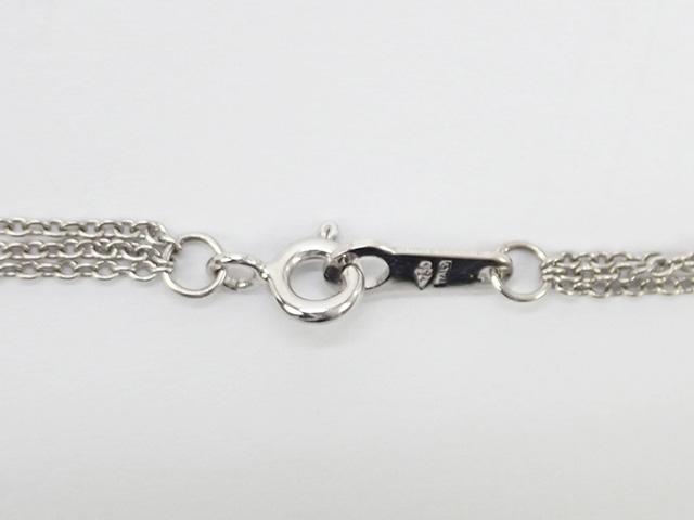 【辛口評価】【Aランク】K18WG 3連ネックレス クロスモチーフ ダイヤ 1.00ct