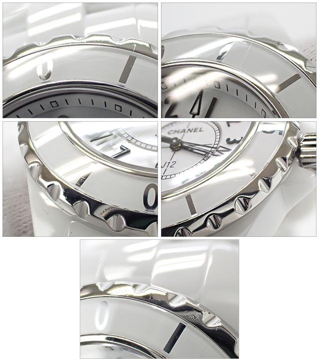 【辛口評価】【ABランク】CHANEL シャネル J12 33mm H0968 ホワイト