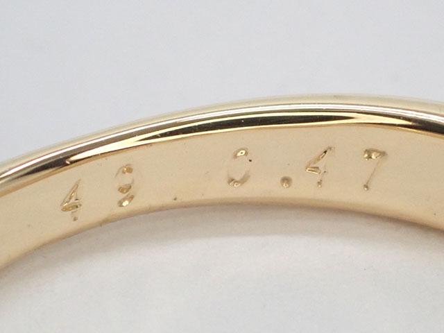 【辛口評価】【Aランク】Cartier カルティエ K18 YG PG WG トリニティ ソリテール リング ダイヤ0.47ct  #49 ゲージ棒約8.5号