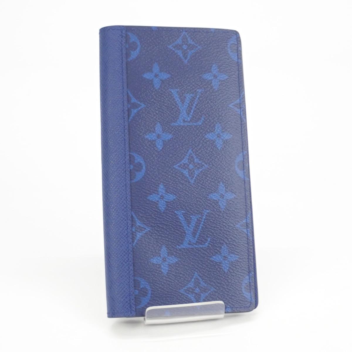 【辛口評価】【SAランク】LOUIS VUITTON ルイヴィトン タイガラマ ポルトフォイユ・ブラザ 二つ折り 長財布 M30297 コバルト