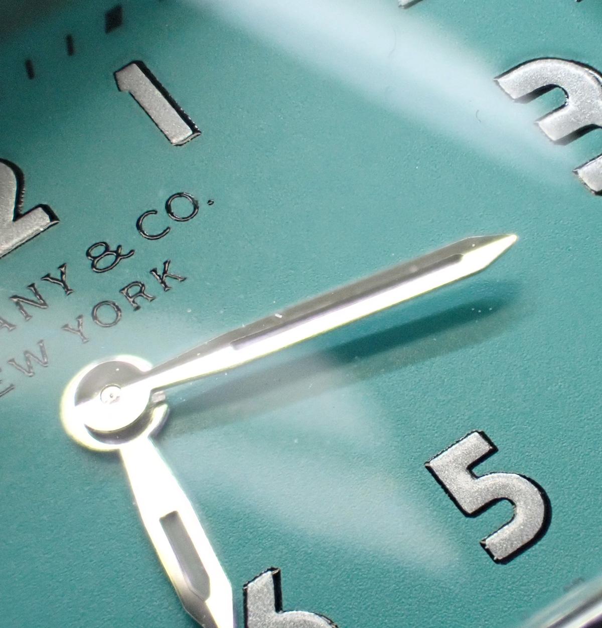 【辛口評価】【Aランク】TIFFANY&Co. ティファニー ティファニー イースト ウエスト ミニ ティファニーブルー文字盤 レザー 36668679