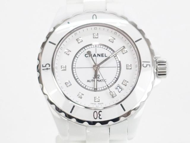 【辛口評価】【Aランク】CHANEL シャネル J12 38mm H1629 12P ダイヤ ホワイト
