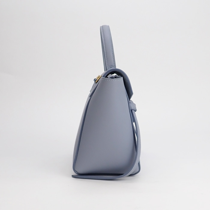 【辛口評価】【SAランク】CELINE セリーヌ ベルトバッグ ナノ 2WAYバッグ 189003ZVA.07AU グレインドカーフスキン アークティックブルー