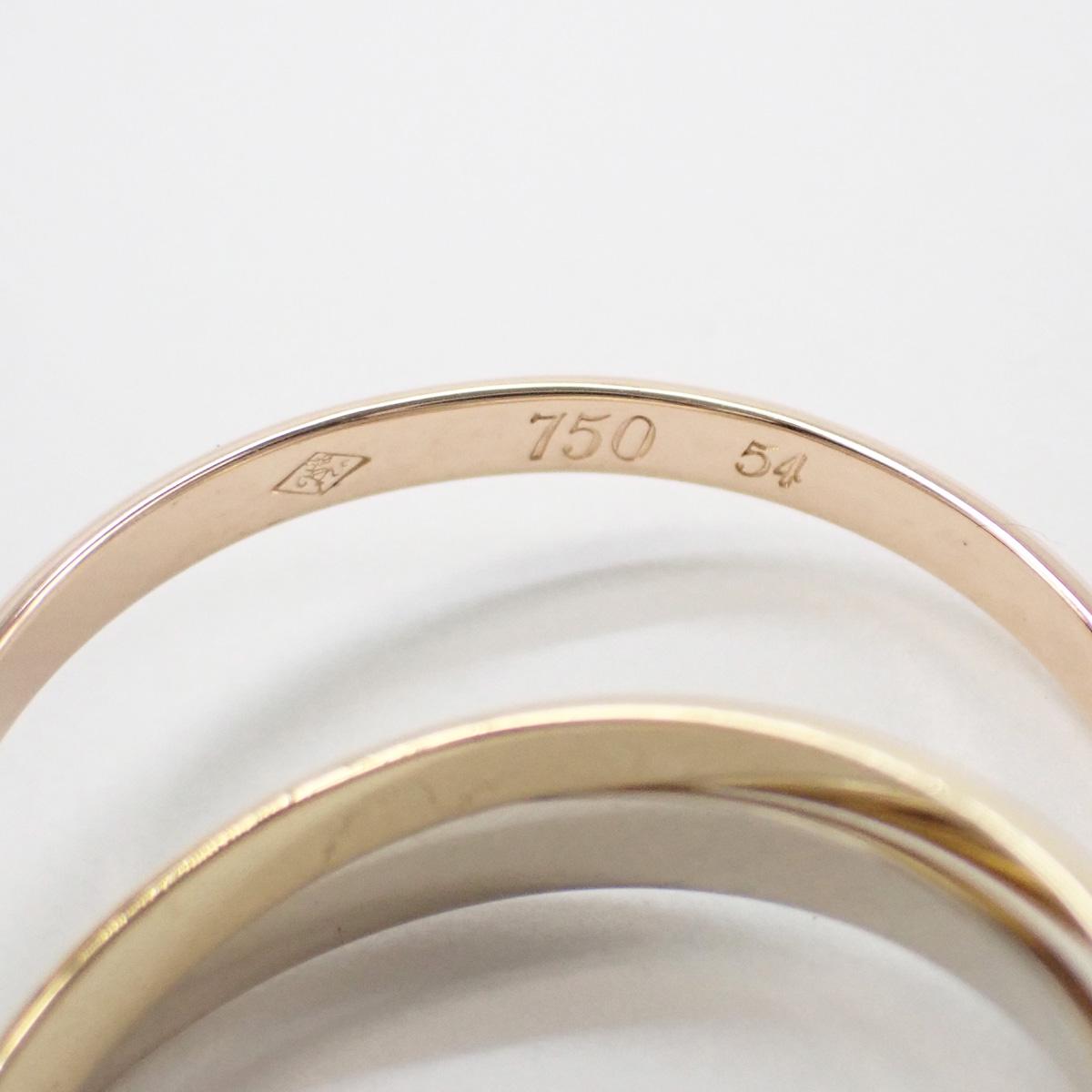 【辛口評価】【Aランク】Cartier カルティエ K18 WG YG PG トリニティXS リング B4088954 #54 ゲージ棒約13.5号