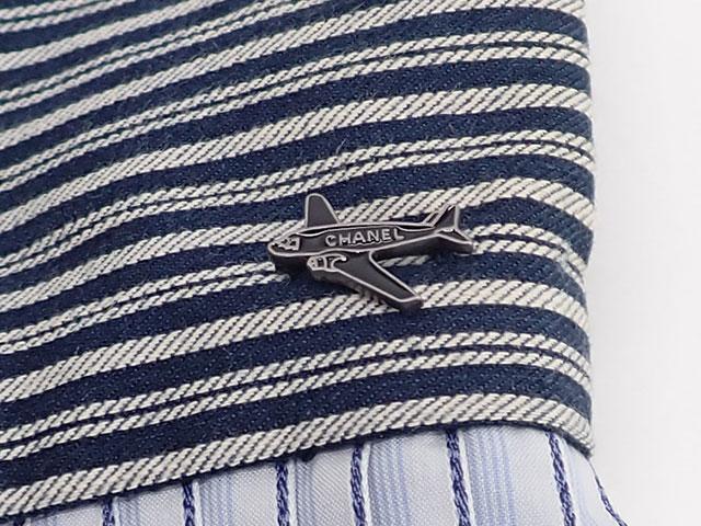 【辛口評価】【Bランク】CHANEL シャネル プリーツ スカート サイズ34 コットン100% ブルー