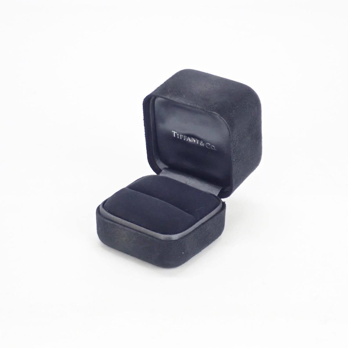 【辛口評価】【Aランク】Tiffany&Co. ティファニー K18PG ダイヤモンド ウェディングバンドリング ハーフ ゲージ棒10号