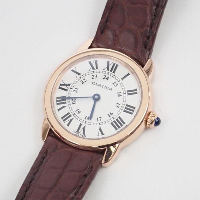 【辛口評価】【Aランク】Cartier カルティエ ロンド ソロ ドゥ SM W6701007 国内正規品 シルバー文字盤 ブラウンレザー