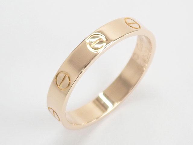 【辛口評価】【Aランク】Cartier カルティエ K18PG LOVE WEDDING BAND ラブ ウェディング リング ミニラブ B4085256 #56 ゲージ棒約16号弱
