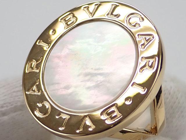 【辛口評価】【Aランク】BVLGARI ブルガリ K18YG ブルガリブルガリ ビッグ シェル リング ゲージ棒約11号
