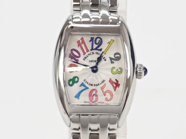 【辛口評価】【Aランク】FRANCK MULLER フランク ミュラー トノーカーベックスプティ カラードリーム レディース腕時計 2502QZ COL DRM シルバー文字盤
