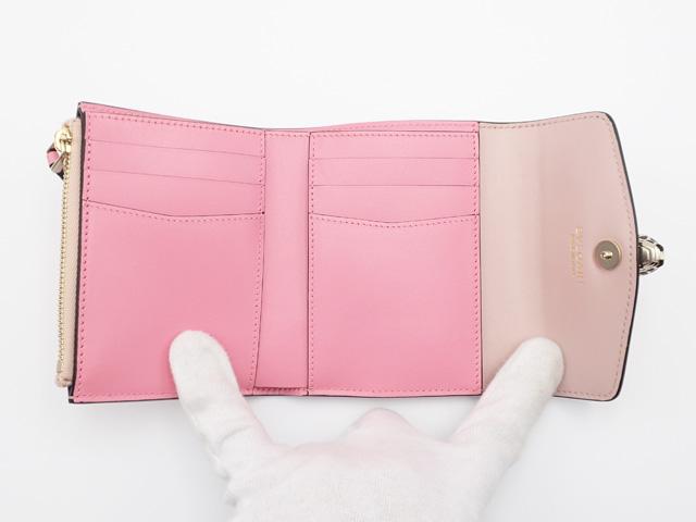 【辛口評価】【Sランク】BVLGARI ブルガリ セルペンティ フォーエバー 三つ折り財布 287860 カーフ ピンク