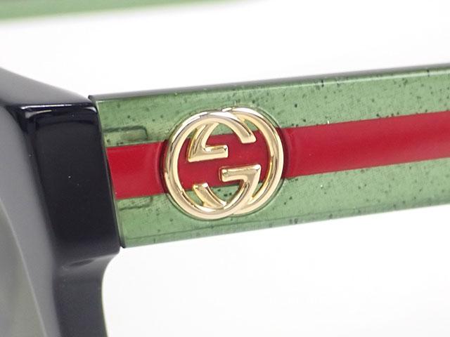 【辛口評価】【ABランク】GUCCI グッチ アレッサンドロ ミケーレ スクエア サングラス GG0034SA 002 ブラック