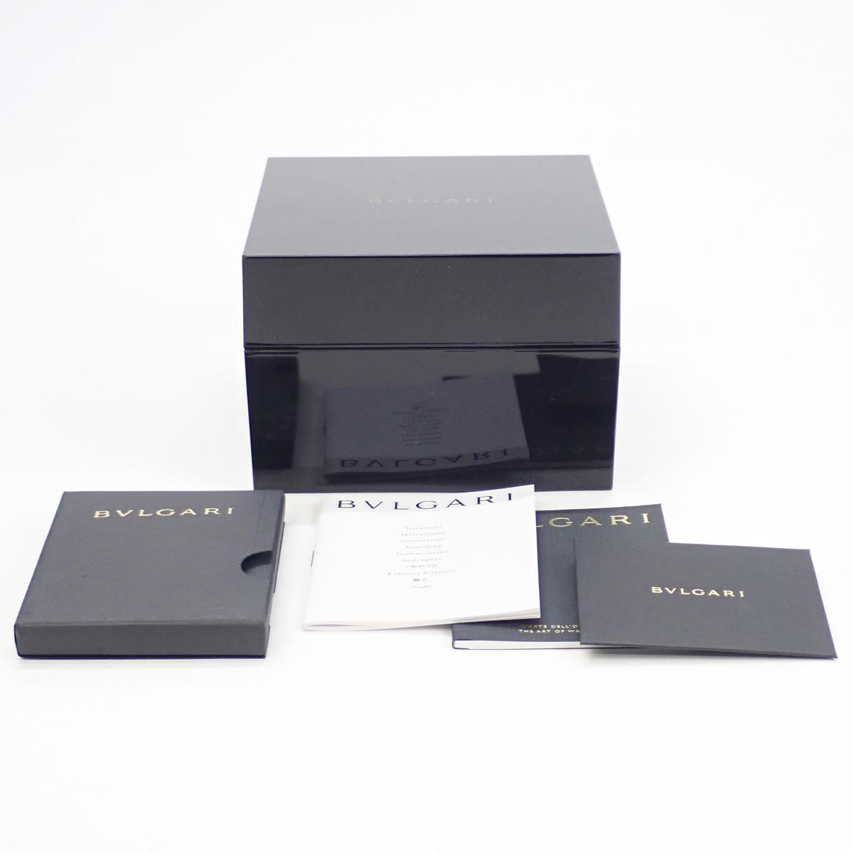 【辛口評価】【Aランク】BVLGARI ブルガリ オクト BGO41BSSD ブラック文字盤