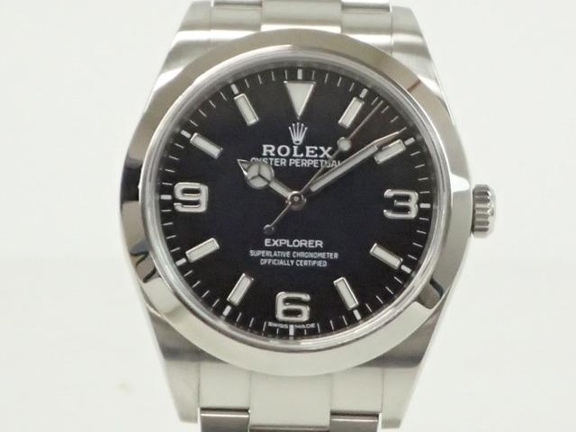 【辛口評価】【Aランク】ROLEX ロレックス エクスプローラーI 214270 新ダイアル ギャランティー付き メーカー保証期間中