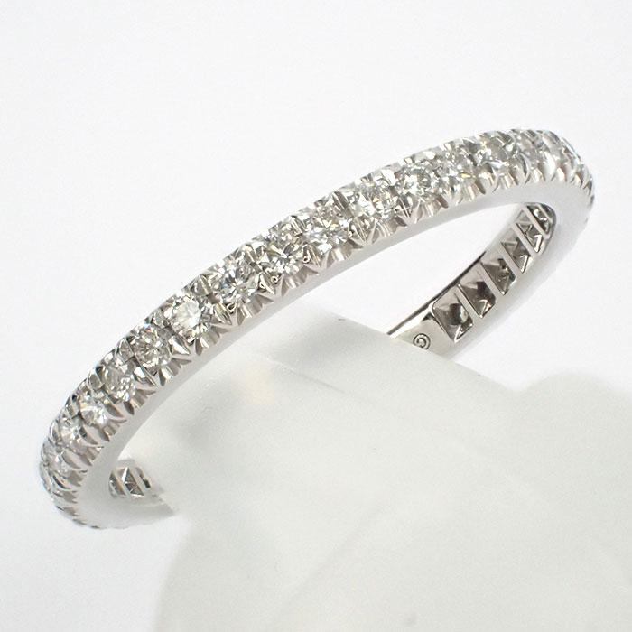 【辛口評価】【Aランク】Tiffany&Co. ティファニー Pt950 ソレスト フルエタニティ リング ダイヤモンド 0.36ct ゲージ棒約8号