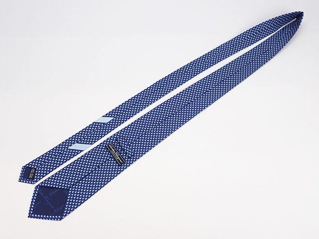 【辛口評価】【SAランク】Ferragamo フェラガモ ネクタイ テントウムシ柄 シルク100% ブルー