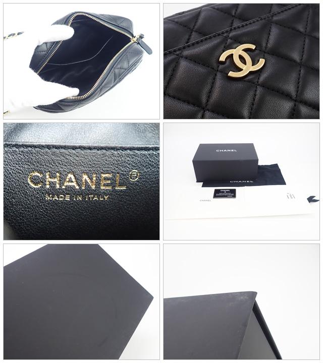 【辛口評価】【Sランク】CHANEL シャネル ラムスキン カメラケース ショルダーバッグ A91796 ブラック×ゴールド金具