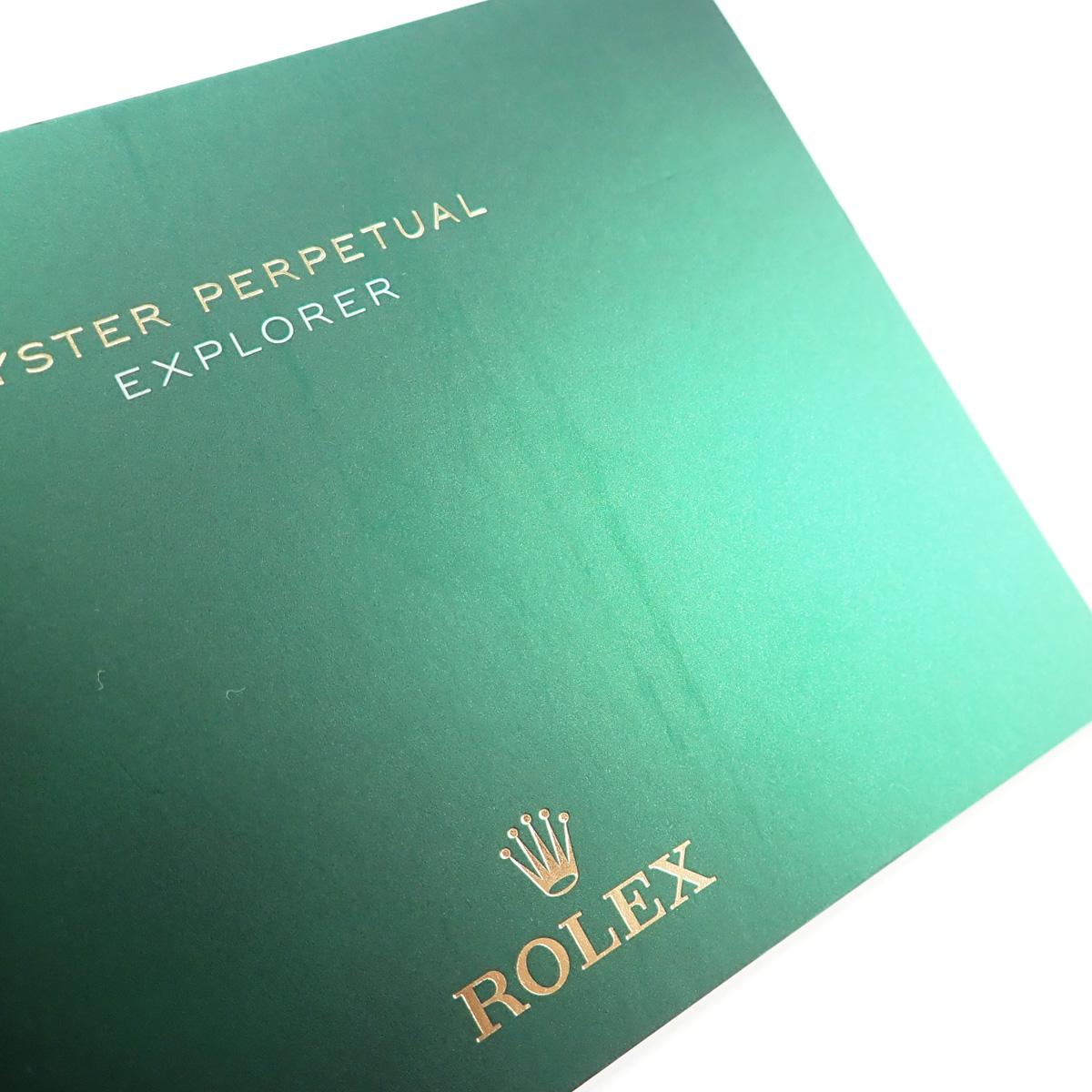 【辛口評価】【Aランク】ROLEX ロレックス エクスプローラーI 214270 ブラックアウト 鏡面バックル 国内正規品 ギャランティー付き ランダム番